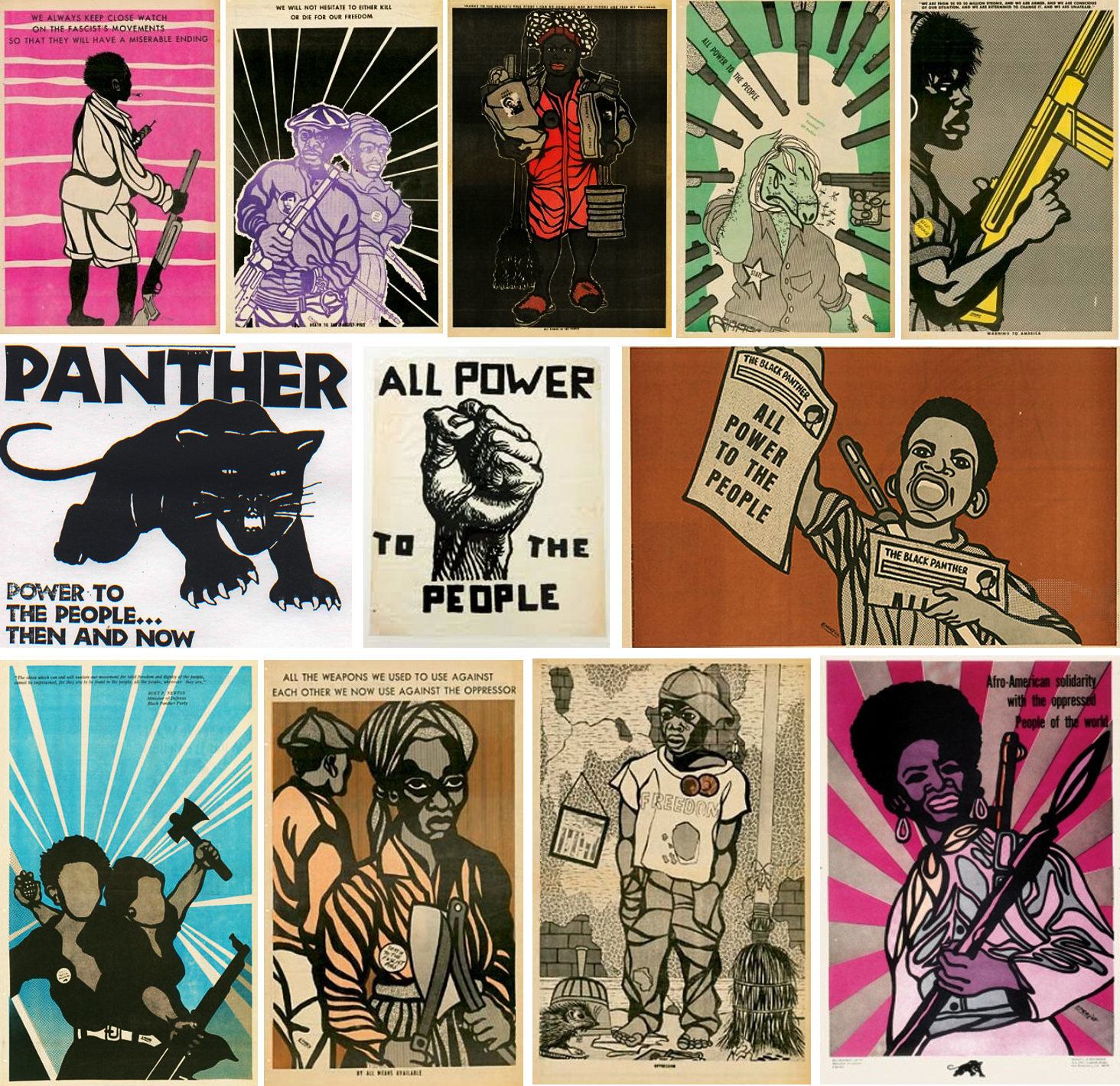 Black Panthers por Emory Douglas (de 1970 a 1982)