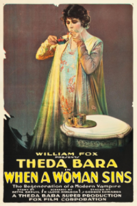 Theda Bara em When a Woman Sins (de J. Gordon Edwards, 1918)