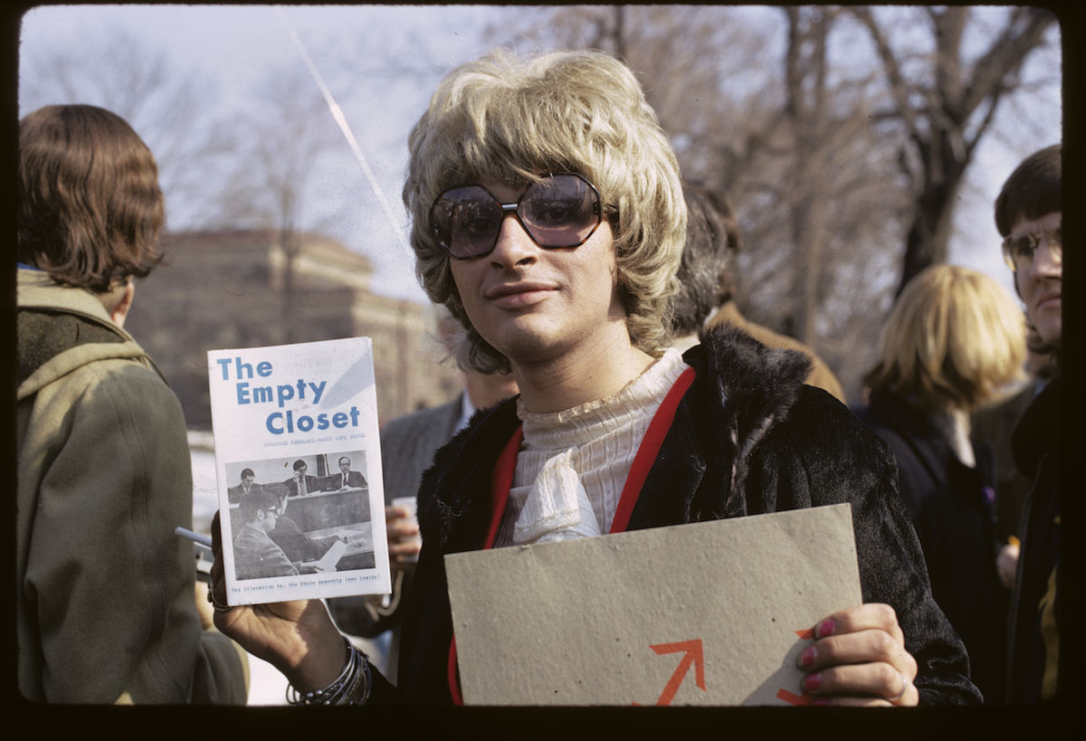 Diana Davies, Gay rights demonstration, Albany, New York , 1971.