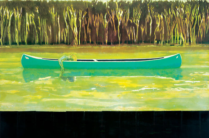 Canoe Lake (1997-8) de Peter Doig
